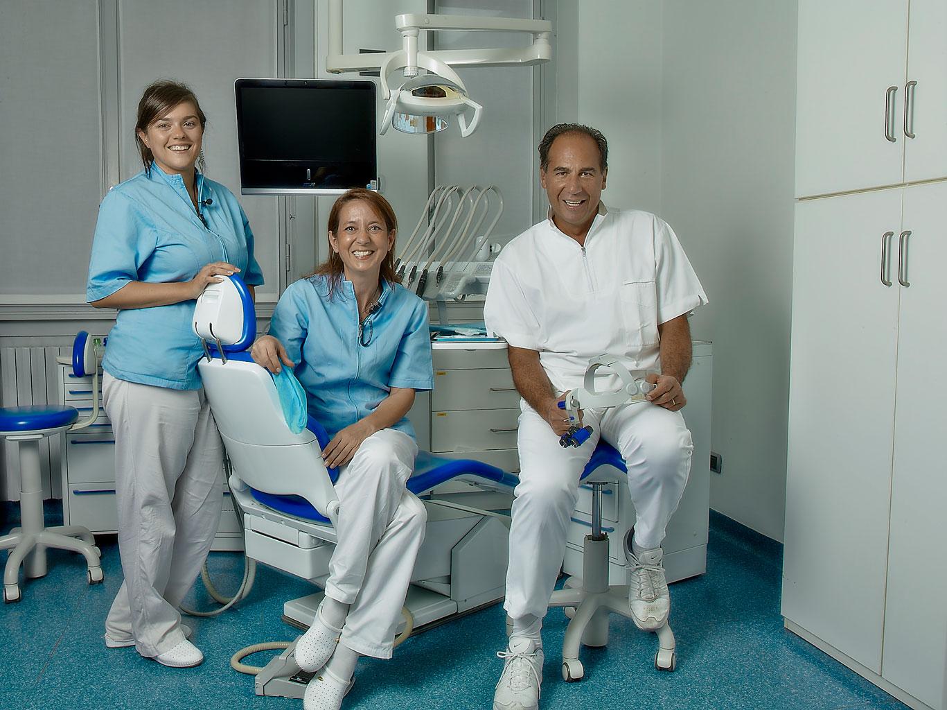 team dello studio odontoiatrico