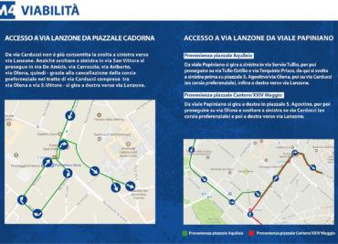 Cambio viabilità di via Lanzone causa lavori M4