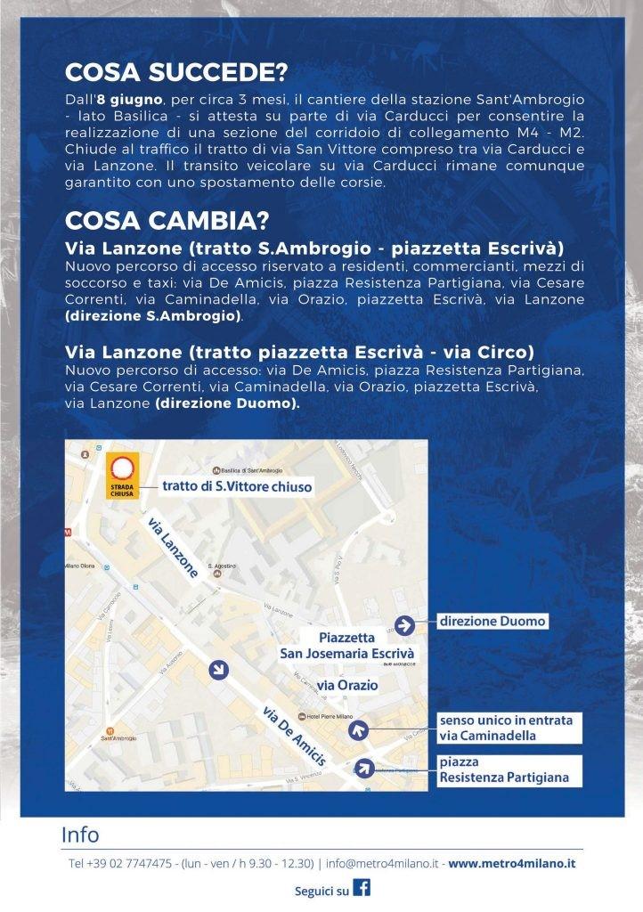 S.Ambrogio – Da sabato 8 giugno temporaneo cambio di viabilità